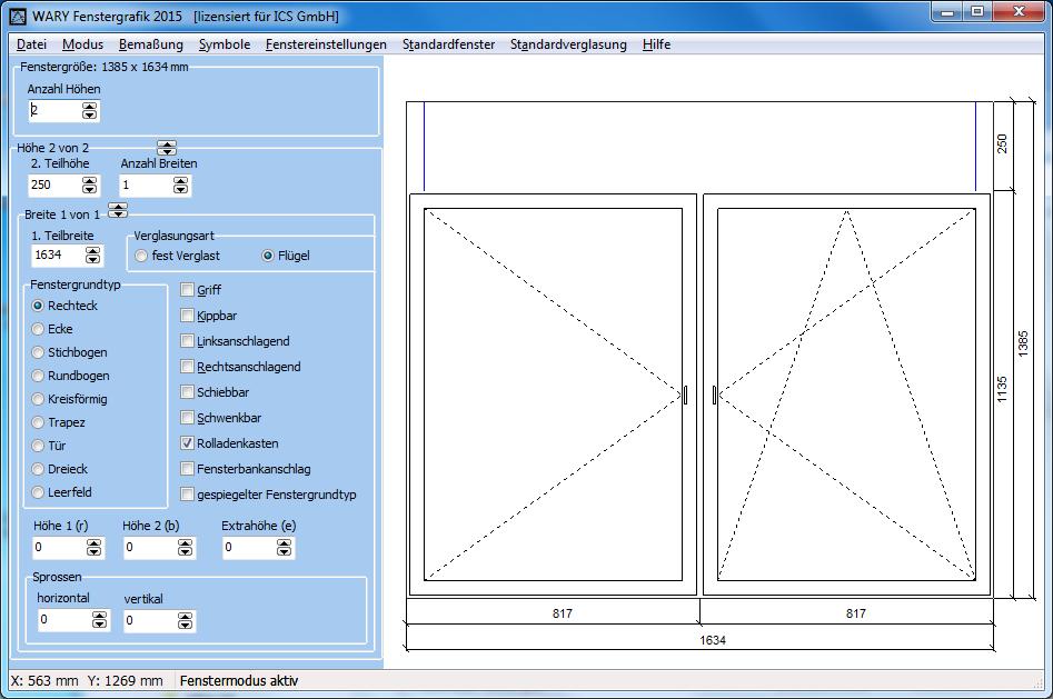 Fenster konfigurator software kostenlos  Fenstergrafik - Einfach Angebotsskizzen im Fensterbau erstellen
